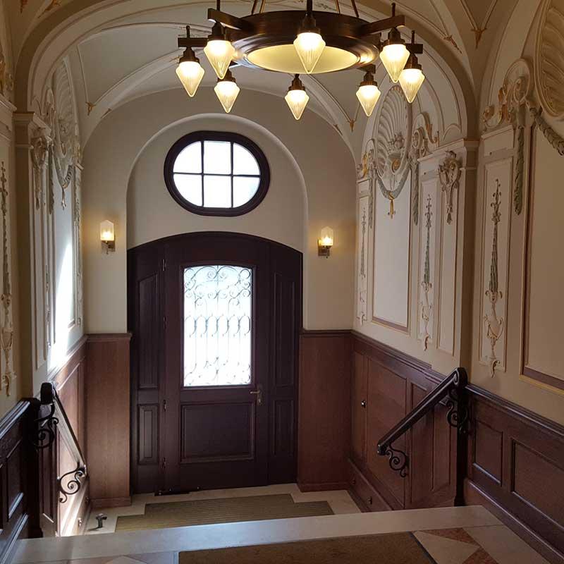 Historisches Treppenhaus in München